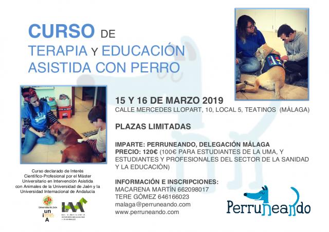 Curso Terapia y Educación Asistida con Perros Granada
